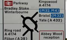 Complex road sign